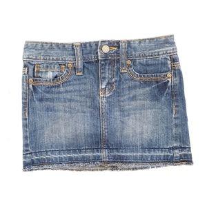 6 Girl's Old Navy Distressed Denim Blue Jean Skirt